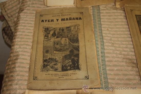 Libros antiguos: 1775- BONITO LOTE DE 14 NOVELAS DE JULIO VERNE S/F. EDIT. SAENZ DE JUBERA. MADRID. - Foto 9 - 34303702