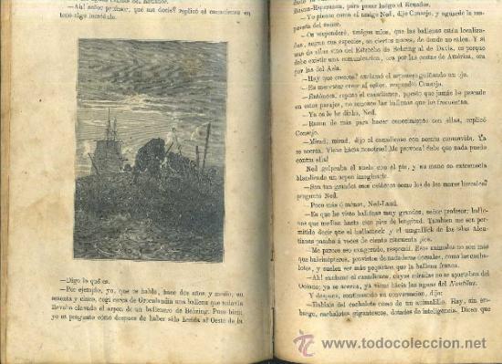 Libros antiguos: JULIO VERNE : 20.000 LEGUAS DE VIAJE SUBMARINO (TOMÁS REY, 1869) PRIMERA EDICIÓN - Foto 3 - 38805822