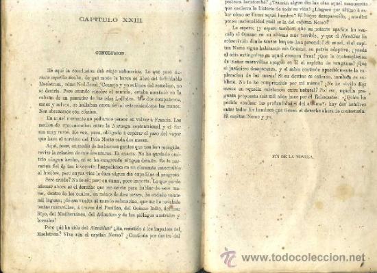 Libros antiguos: JULIO VERNE : 20.000 LEGUAS DE VIAJE SUBMARINO (TOMÁS REY, 1869) PRIMERA EDICIÓN - Foto 2 - 38805822