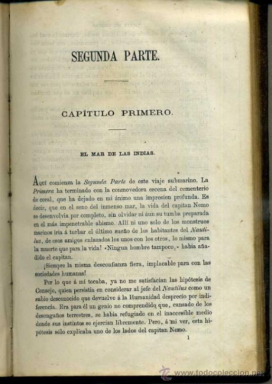 Libros antiguos: JULIO VERNE : 20.000 LEGUAS DE VIAJE SUBMARINO (TOMÁS REY, 1869) PRIMERA EDICIÓN - Foto 9 - 38805822