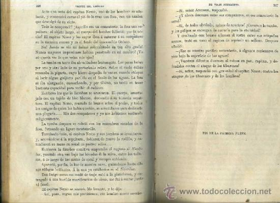 Libros antiguos: JULIO VERNE : 20.000 LEGUAS DE VIAJE SUBMARINO (TOMÁS REY, 1869) PRIMERA EDICIÓN - Foto 10 - 38805822