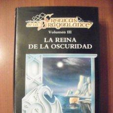 Libros antiguos: LA REINA DE LA OSCURIDAD, VOLUMEN III, MARGARET WEIS, TRACY HICKMAN, TIMUN MAS. Lote 39534787