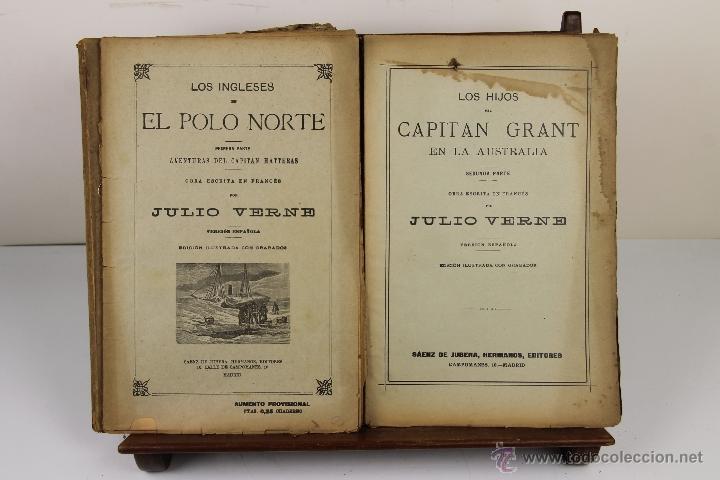 Libros antiguos: 3996- JULIO VERNE. 3 TITULOS. EDIT. SAENZ JUBERA. S/F. - Foto 2 - 39849893