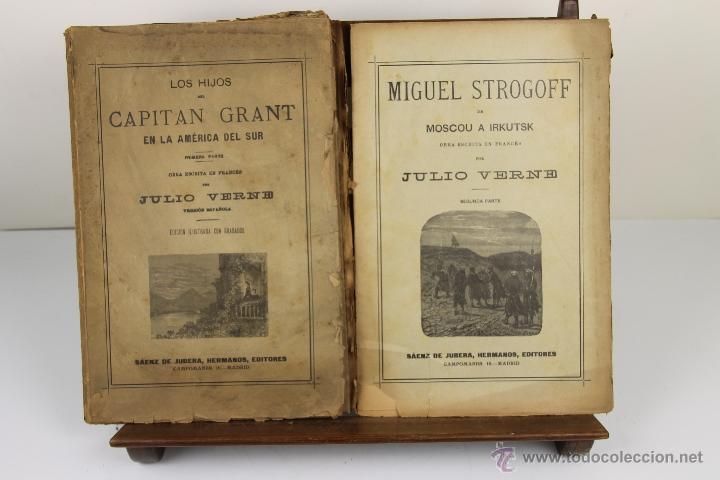 Libros antiguos: 3996- JULIO VERNE. 3 TITULOS. EDIT. SAENZ JUBERA. S/F. - Foto 3 - 39849893