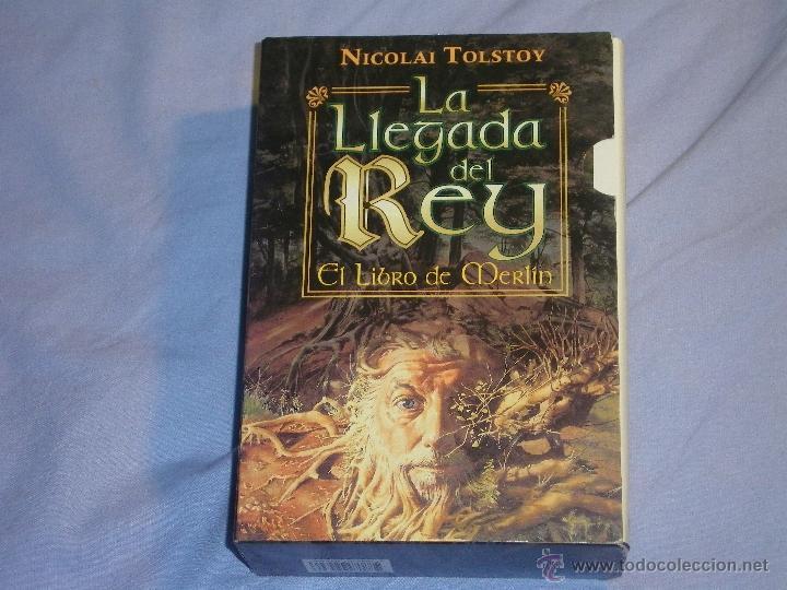 LA LLEGADA DEL REY - EL LIBRO DE MERLIN - 2 TOMOS CON CAJA - ( NICOLAI TOLSTOY ) (Libros antiguos (hasta 1936), raros y curiosos - Literatura - Narrativa - Ciencia Ficción y Fantasía)