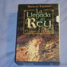 Libros antiguos: LA LLEGADA DEL REY - EL LIBRO DE MERLIN - 2 TOMOS CON CAJA - ( NICOLAI TOLSTOY ). Lote 40166695
