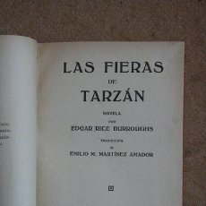 Libros antiguos: LAS FIERAS DE TARZÁN. EDGAR RICE BURROUGHS. GUSTAVO GILI, 1927.. Lote 43334118