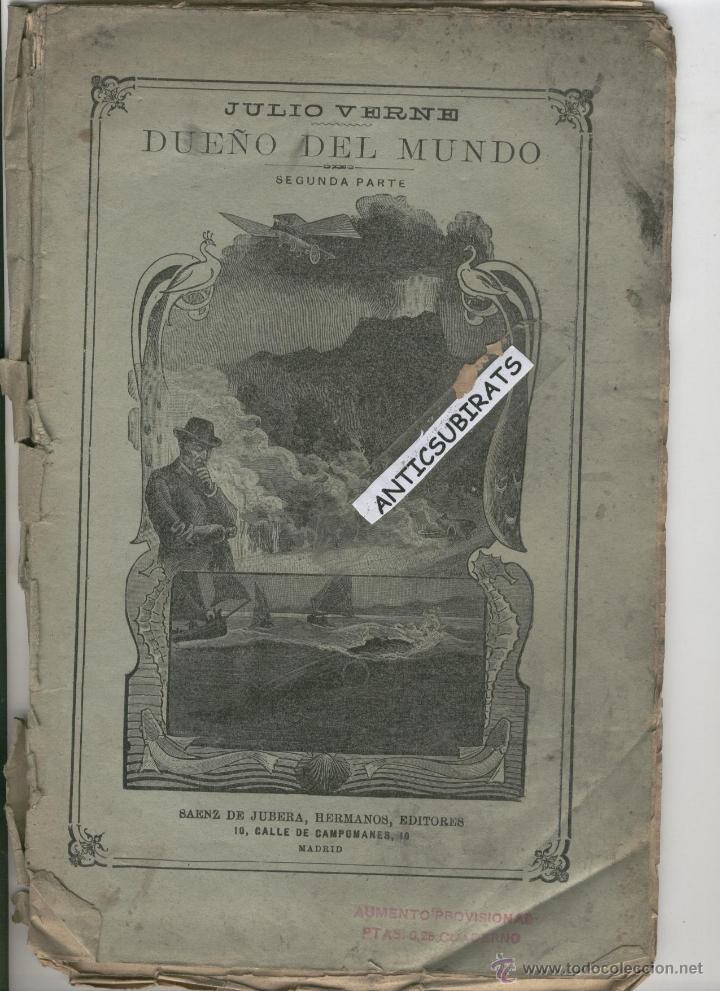 DUEÑO DEL MUNDO JULIO VERNE AÑO 1890 SUBMARINO VOLADOR INVENTOS GRABADOS ANTIGUOS DE CIENCIA FICCION (Libros antiguos (hasta 1936), raros y curiosos - Literatura - Narrativa - Ciencia Ficción y Fantasía)