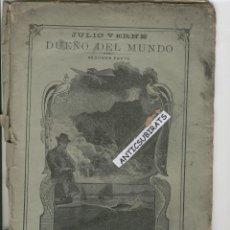 Libros antiguos: DUEÑO DEL MUNDO JULIO VERNE AÑO 1890 SUBMARINO VOLADOR INVENTOS GRABADOS ANTIGUOS DE CIENCIA FICCION. Lote 44342657