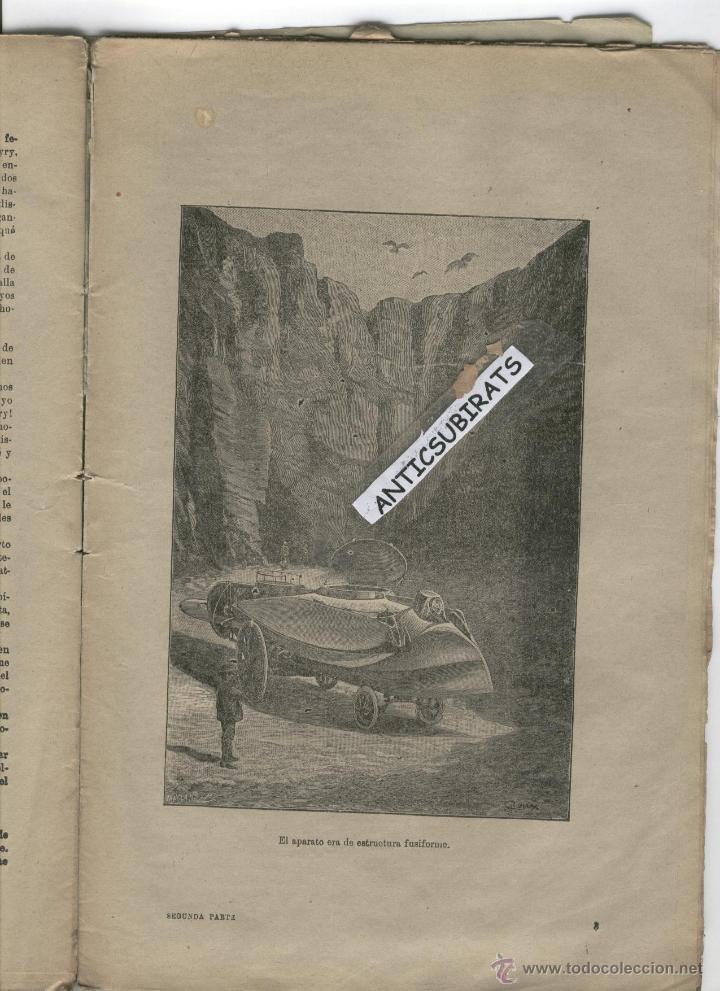 Libros antiguos: DUEÑO DEL MUNDO JULIO VERNE AÑO 1890 SUBMARINO VOLADOR INVENTOS GRABADOS ANTIGUOS DE CIENCIA FICCION - Foto 2 - 44342657