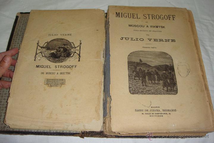 Libros antiguos: Obras de Julio Verne. Con 7 obras. Compañía Trasatlántica. - Foto 2 - 46916577