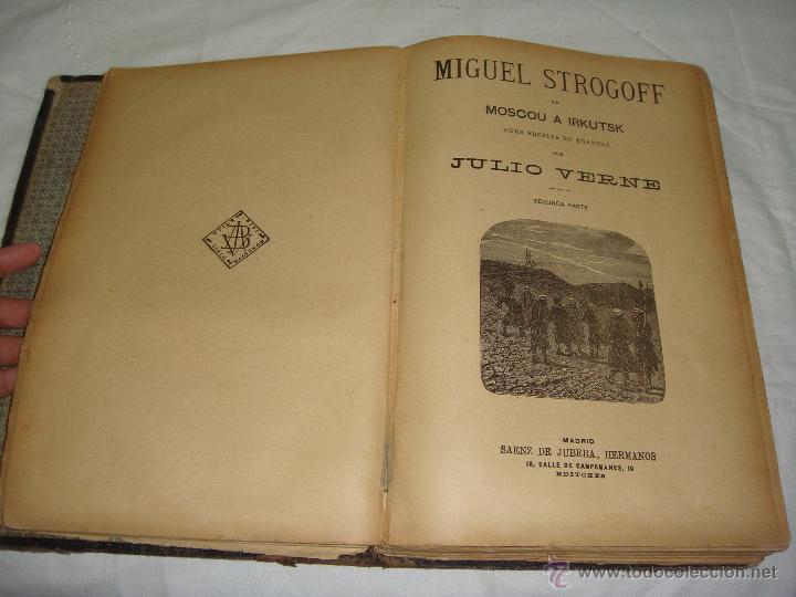 Libros antiguos: Obras de Julio Verne. Con 7 obras. Compañía Trasatlántica. - Foto 3 - 46916577