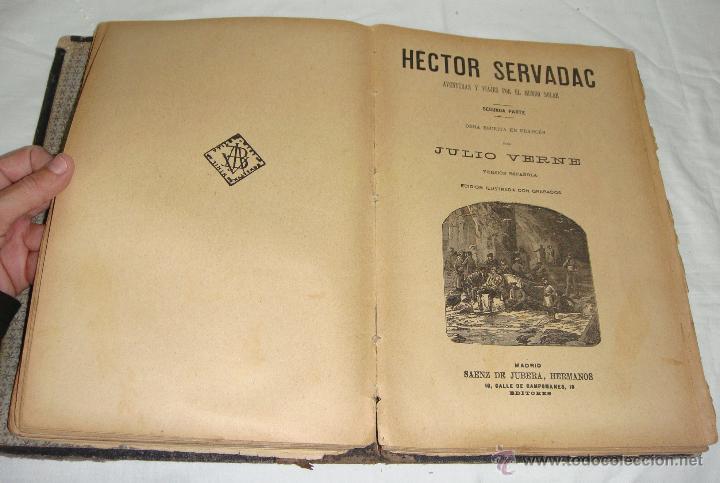 Libros antiguos: Obras de Julio Verne. Con 7 obras. Compañía Trasatlántica. - Foto 6 - 46916577