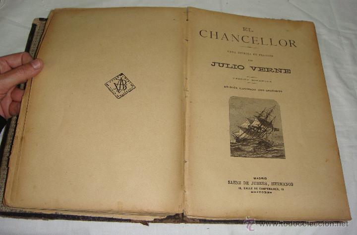 Libros antiguos: Obras de Julio Verne. Con 7 obras. Compañía Trasatlántica. - Foto 7 - 46916577
