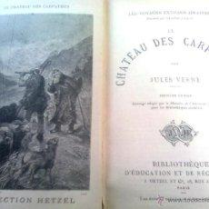 Libros antiguos: VERNE, JULIO - LE CHATEAU DES CARPATES (ED. ETZEL 7ª ED) FINALES SIGLO XIX. CASTILLO CARPATOS. Lote 48834239