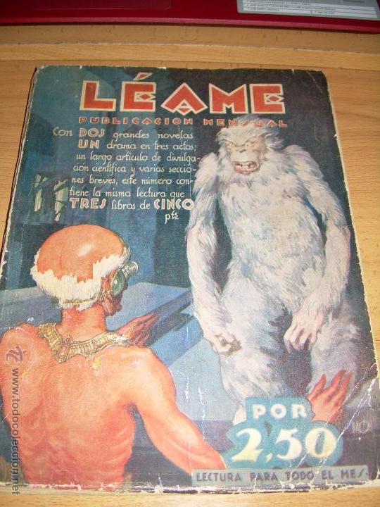 LEAME ABRIL 1928 1ª EDICIÓN DEL CEREBRO SUPREMO DE MARTE AGUILAR (Libros antiguos (hasta 1936), raros y curiosos - Literatura - Narrativa - Ciencia Ficción y Fantasía)