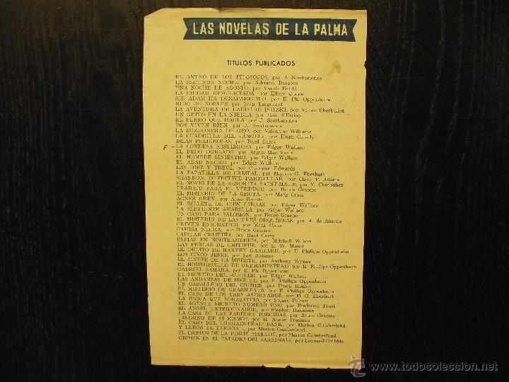 Libros antiguos: LAS NOVELAS DE LA PALMA, SCERBANENCO, BARACCO, BONTA, QUEEN, OPPENHEIM, TURGUENEF, CHERBULIEZ - Foto 2 - 55056392