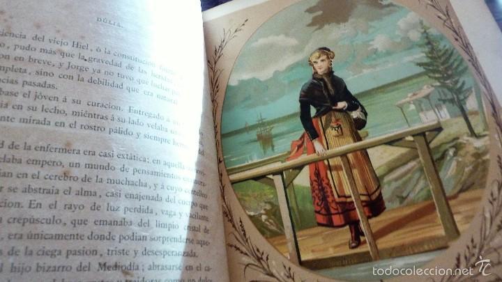 Libros antiguos: 2 tomos las hadas del mar . preciosas cromolitografias simon . ed verdaguer . 1878 ver fotos - Foto 5 - 57111615