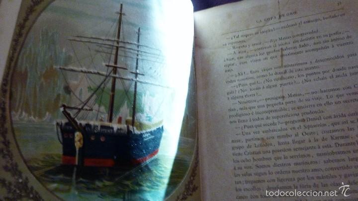 Libros antiguos: 2 tomos las hadas del mar . preciosas cromolitografias simon . ed verdaguer . 1878 ver fotos - Foto 7 - 57111615