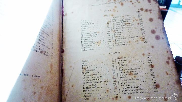 Libros antiguos: 2 tomos las hadas del mar . preciosas cromolitografias simon . ed verdaguer . 1878 ver fotos - Foto 13 - 57111615