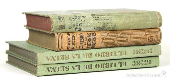 7627 - EDITOR GUSTAVO GILI. 4 VOLÚMENES. (VER DESCRIP). RUDYARD KIPLING. 1908-1944. (Libros antiguos (hasta 1936), raros y curiosos - Literatura - Narrativa - Ciencia Ficción y Fantasía)