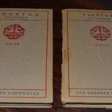 Libros antiguos: CUENTOS. HOFFMANN. 2 VOLUMENES TOMOS I A V CALPE. MADRID, 1922. GRANDES CUENTISTAS Nº 24 Y 25. Lote 57389642