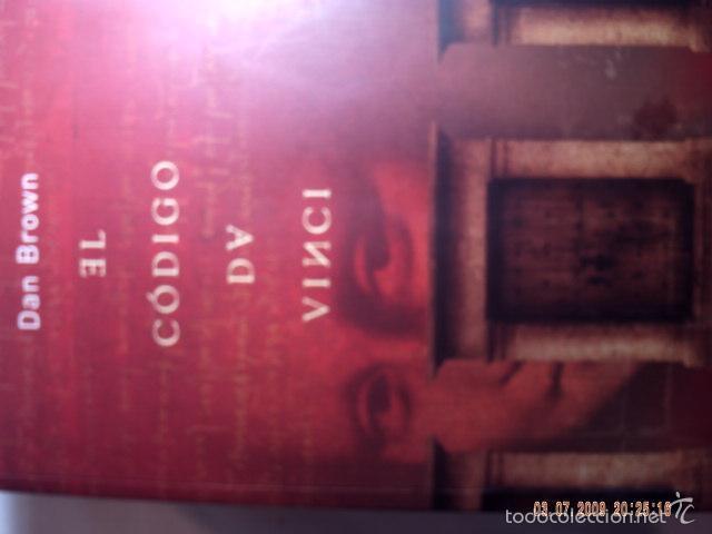 Libros antiguos: EL CÓDIGO DA VINCI DE DAN BROWN. MUY BUEN ESTADO DE CONSERVACION. - Foto 2 - 57481379