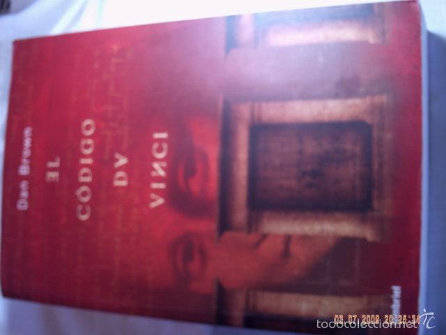 Libros antiguos: EL CÓDIGO DA VINCI DE DAN BROWN. MUY BUEN ESTADO DE CONSERVACION. - Foto 3 - 57481379