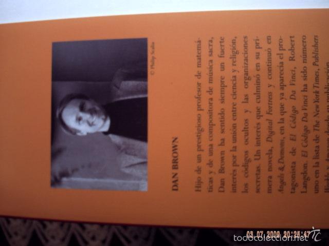 Libros antiguos: EL CÓDIGO DA VINCI DE DAN BROWN. MUY BUEN ESTADO DE CONSERVACION. - Foto 4 - 57481379