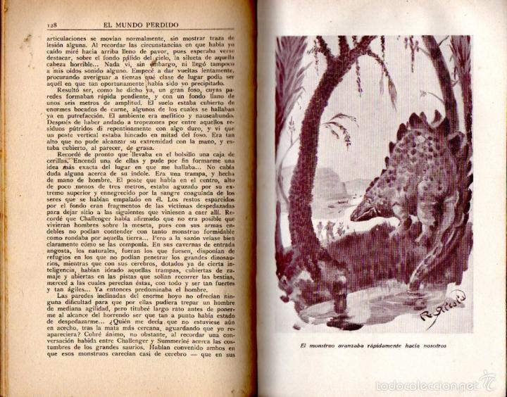 Libros antiguos: A. CONAN DOYLE : EL MUNDO PERDIDO (IBERIA, 1927) ILUSTRADO POR ALCALÁ - Foto 2 - 58342659