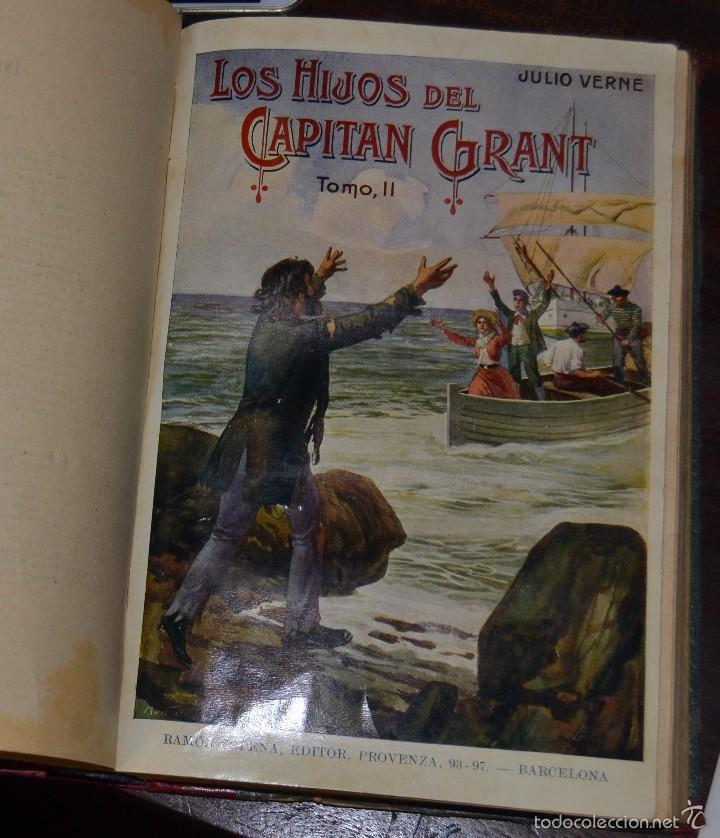 Libros antiguos: JULIO VERNE : LOS HIJOS DEL CAPITÁN GRANT - DOS TOMOS EN UN VOLUMEN ENCUADERNADO (SOPENA, c. 1935) - Foto 4 - 60136647