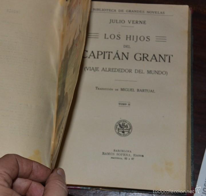 Libros antiguos: JULIO VERNE : LOS HIJOS DEL CAPITÁN GRANT - DOS TOMOS EN UN VOLUMEN ENCUADERNADO (SOPENA, c. 1935) - Foto 5 - 60136647