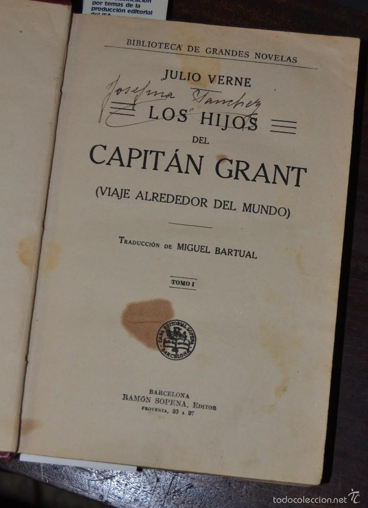 Libros antiguos: JULIO VERNE : LOS HIJOS DEL CAPITÁN GRANT - DOS TOMOS EN UN VOLUMEN ENCUADERNADO (SOPENA, c. 1935) - Foto 7 - 60136647