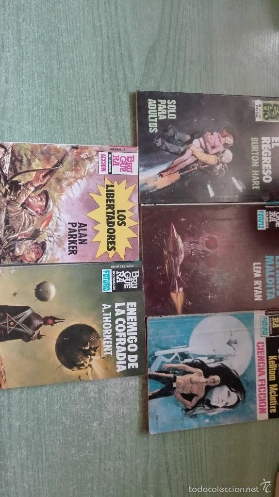 LOTE DE 5 NOVELAS DE BRUGUERA Y ECSA CONQUISTA DEL ESPACIO Y METRALLA (Libros antiguos (hasta 1936), raros y curiosos - Literatura - Narrativa - Ciencia Ficción y Fantasía)
