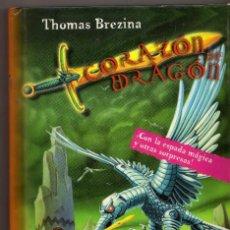 Libros antiguos: EL LUCHADOR DE LOS HIELOS PERPETUOS, THOMAS BREZINA- CORAZÓN DE DRAGON Nº 5, ED. S.M. 1ª EDICION. Lote 98087894