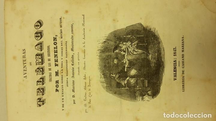 Libros antiguos: LAS AVENTURAS DE TELEMACO SEGUIDAS DE LAS DE ARISTONOO 1843. - Foto 2 - 64294823