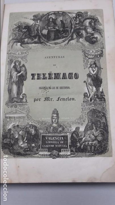 LAS AVENTURAS DE TELEMACO SEGUIDAS DE LAS DE ARISTONOO 1843. (Libros antiguos (hasta 1936), raros y curiosos - Literatura - Narrativa - Ciencia Ficción y Fantasía)