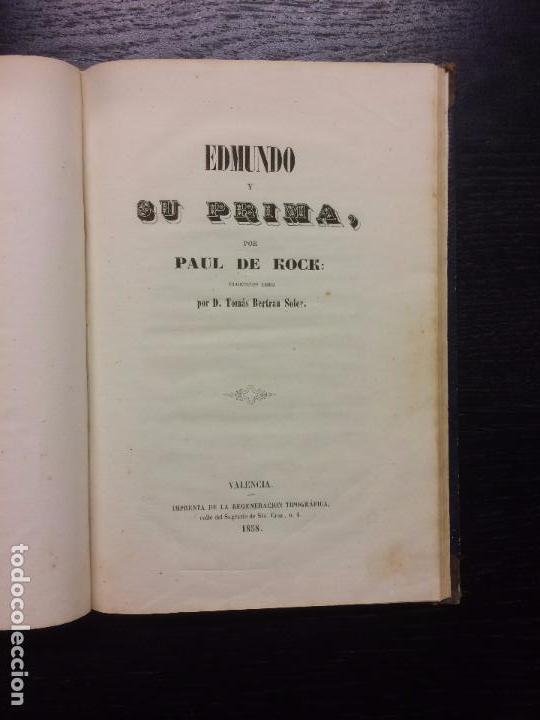 EDMUNDO Y SU PRIMA, PAUL DE KOCK (Libros antiguos (hasta 1936), raros y curiosos - Literatura - Narrativa - Ciencia Ficción y Fantasía)
