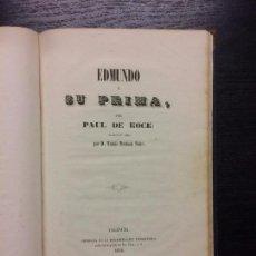 Libros antiguos: EDMUNDO Y SU PRIMA, PAUL DE KOCK. Lote 67651765