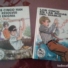Libros antiguos: 2 LIBROS DE LOS CINCO - ENID BLYTON. Lote 68850689