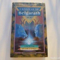 Libros antiguos: CRONICAS DE BELGARATH III- IV. LA LUZ DEL ORBE Y EL CASTILLO DE LA MAGIA. NUEVO, PRECINTADO.. Lote 74093895