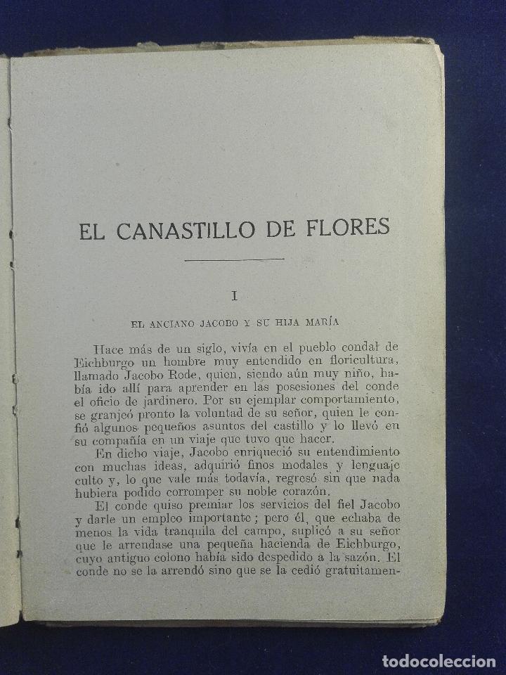 Libros antiguos: EL CANASTILLO DE LAS FLORES - CRISTOBAL SCHMID - BIBLIOTECA SELECTA - SOPENA - BARCELONA - 1942 - - Foto 3 - 75571303