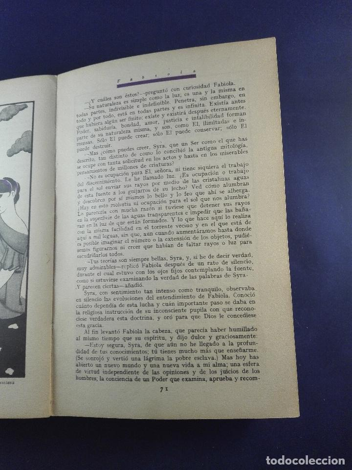 Libros antiguos: FABIOLA O LA IGLESIA DE LAS CATACUMBAS - NICOLAS WISEMAN - CUENTOS DE CALLEJA - BIBLIOTECA PERLA - Foto 8 - 75571675