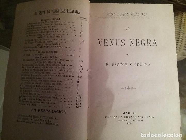 LA VENUS NEGRA. ADOLPHE BELOT. MADRID 1884 (Libros antiguos (hasta 1936), raros y curiosos - Literatura - Narrativa - Ciencia Ficción y Fantasía)