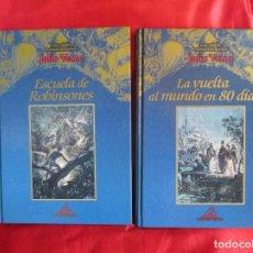 Libros antiguos: DOS LIBROS DE JULIO VERNE. Lote 80628966