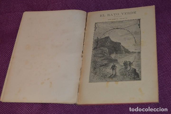 VINTAGE - ANTIGUO LIBRO - JULIO VERNE - SAENZ DE JUBERA - EL RAYO VERDE, I Y II PARTE - AÑOS 30 (Libros antiguos (hasta 1936), raros y curiosos - Literatura - Narrativa - Ciencia Ficción y Fantasía)