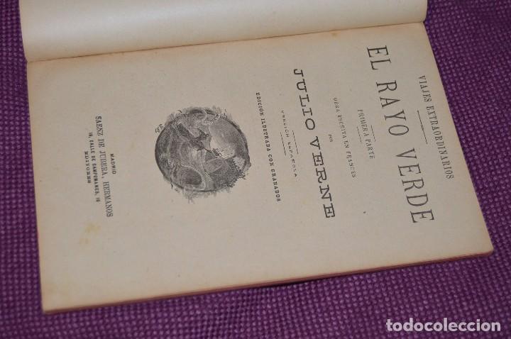 Libros antiguos: VINTAGE - ANTIGUO LIBRO - JULIO VERNE - SAENZ DE JUBERA - EL RAYO VERDE, I Y II PARTE - AÑOS 30 - Foto 4 - 86128784