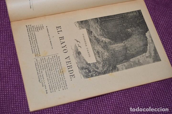 Libros antiguos: VINTAGE - ANTIGUO LIBRO - JULIO VERNE - SAENZ DE JUBERA - EL RAYO VERDE, I Y II PARTE - AÑOS 30 - Foto 5 - 86128784
