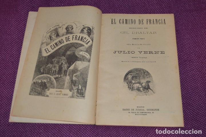 VINTAGE - ANTIGUO LIBRO - JULIO VERNE - SAENZ DE JUBERA - EL CAMINO DE FRANCIA, 1ª Y 2ª PARTE - 30'S (Libros antiguos (hasta 1936), raros y curiosos - Literatura - Narrativa - Ciencia Ficción y Fantasía)