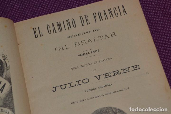 Libros antiguos: VINTAGE - ANTIGUO LIBRO - JULIO VERNE - SAENZ DE JUBERA - EL CAMINO DE FRANCIA, 1ª Y 2ª PARTE - 30s - Foto 2 - 81709908